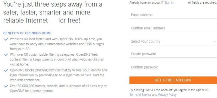 open dns for child safety online